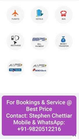 Airticket Booking! Bill Payments! Mobile Recharge! Money Transfers!