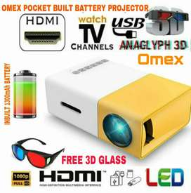 Mini pocket built in battery 2021 Upgrade HD Home cinema Projector