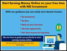 Dont waste ur free Time. Start Earning Online Money with No Investment