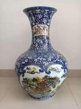 Guci Keramik Jadul Tinggi 70 cm Mulus.