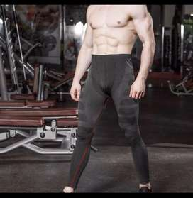 Celana kompresi, lari, gym, yoga