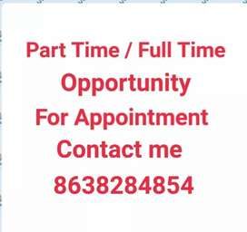 Part Time / Full Time Opportunity