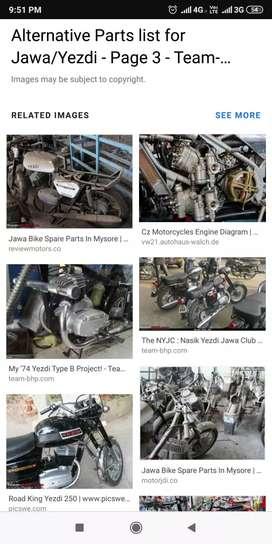 Vintage bikes spare parts