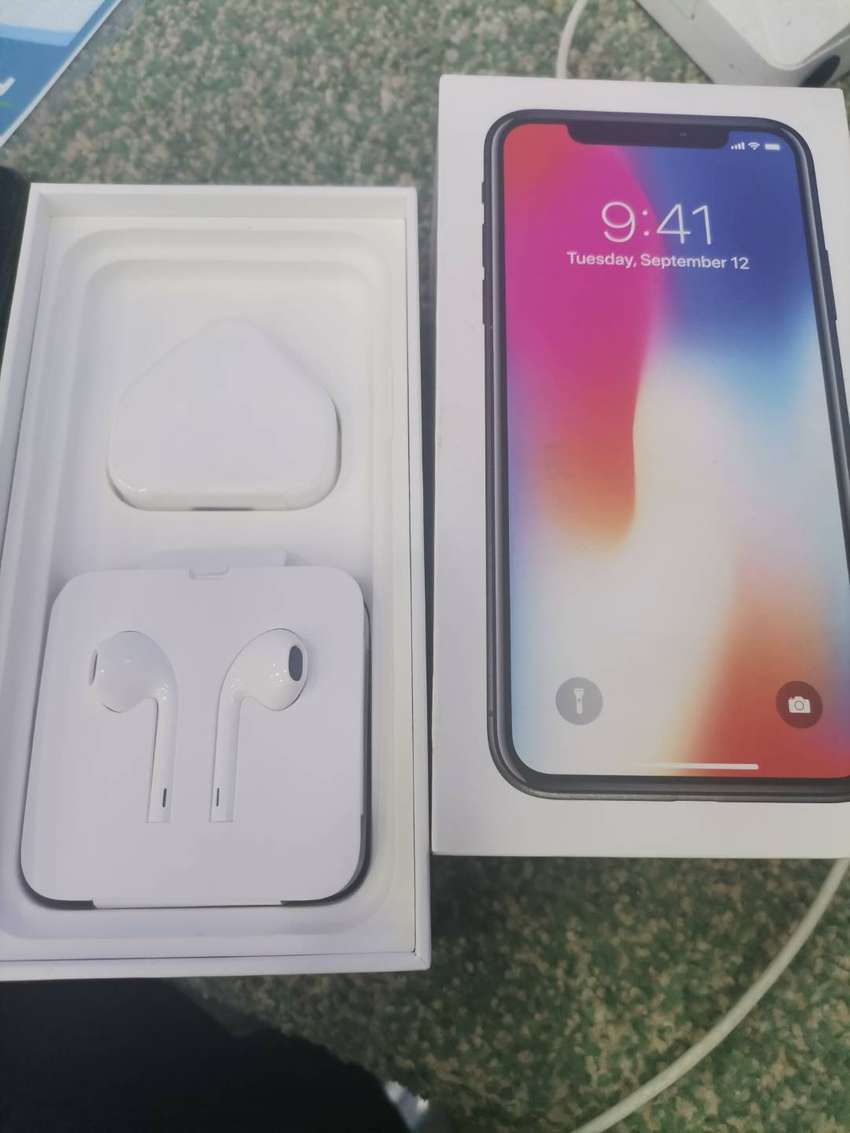 iphone x 256 gb full box arjent sale