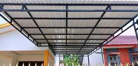 Kami bengkel las nerimah pembuatan kanopi atap sepandex $$1251