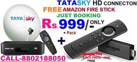 TATA SKY NEW HD DTH BOX WITH AMAZONE FIRE STICK Rs.999