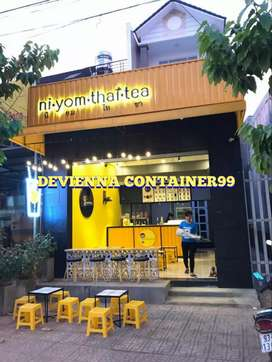 Booth Container thai tea mewah container es teh container boba booth.