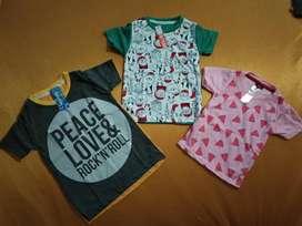 Kaos Anak umur 1-6 tahun