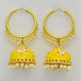 Ear Ring (Jhumki) WITH meena work