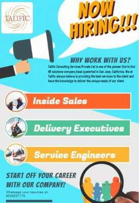 Urgent requirements for delivery executives,Customer relation manager.