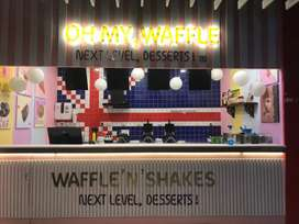 Waffle store for lease in Gsm mall , miyapur- chandhanagar