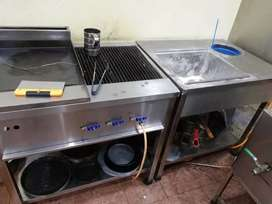 Hot plate and Grill, Breading table, Working table for sale.
