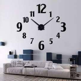 Giant clock jam dinding raksasa 3D DIY motif BK 2 akrilik