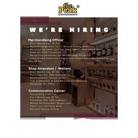 Loker Bandung (shop attendant, audit, spv, finance dll)