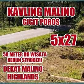 Tanah Kavling Poros Jalan di Kota Malino