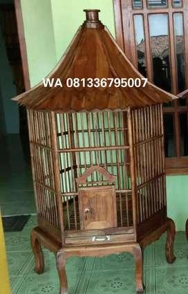 kurungan kayu jati asli untuk hewan peliharaan