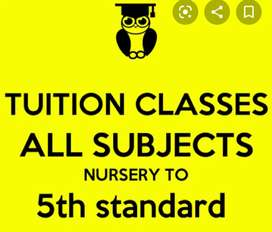 Tution class from nursery to 5
