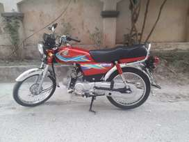 Honda cd 70 almost new. Only 1300 km driven.