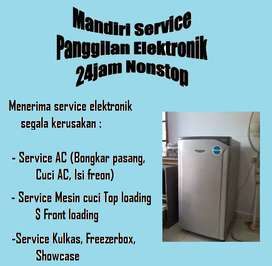 Service Kulkas error , Mesin cuci top loading Showcase, Ac bocor