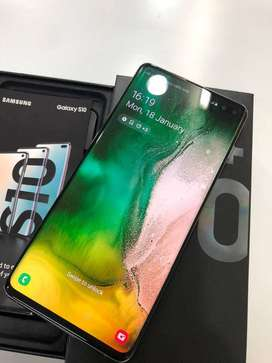 BUY SAMSUNG S10 PLUS IS AVAILABLE WITH ALL ACCESSORIES AND BILL