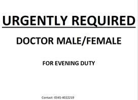 We are looking for MBBS Doctor Male/Female