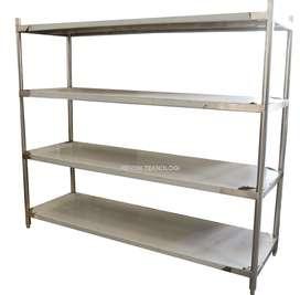 solid rack meja stainless 4 tingkat bisa custom di salatiga