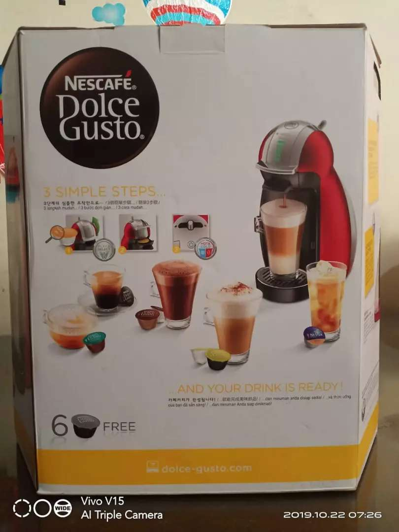 Nescafe Dolce Gusto type 9771 genio 2 red metal 0