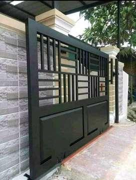 Pintu gerbang rumah minimalis jogja