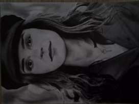 A3 Emma Watson Pencil Drawing