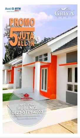 Rumah MURAH !! DP 5juta All-In tanpa biaya lain-lain Di Depok