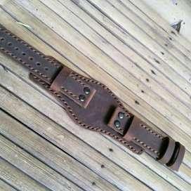 Strap jam tangan kulit model multi pungsi handmade