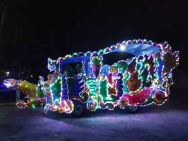 kereta kencana odong odong full lampu led warna cerah dp rendah nego