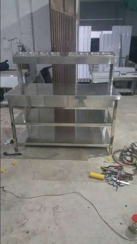 Working Tables, Breading Table, Single Bowl Sink,Trash Table with sink