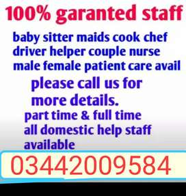 House maid's cook's Driver's Chef' Baby sitter' Attendant Ava 24/7