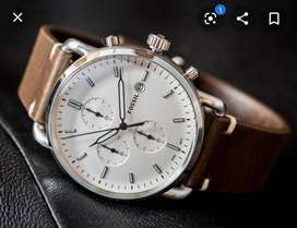 FOSSIL BOX PACKED 4 CHRONOGRAPH WATCH CASH ON DELIVERY PRICE NEGOTIABL