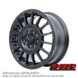 jual  velg type ARROW JD803 HSR R15X65 H8X100-114,3 ET45 SMB-picsay