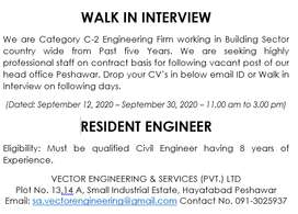 Resident Engineer - (Contract)