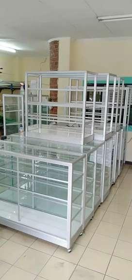 Diorder harga terjangkau etalase kaca baru ber Aluminium