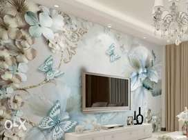 Beauty with Latest PVC Customized Wallpapers