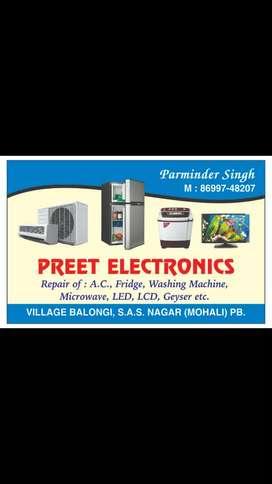 Ac fridge washing machine ETC.