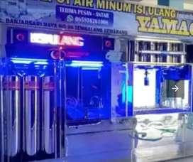 Depot air minum dari Damisiu pemasangan dan partisi nya memang beda