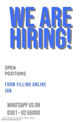 Good opportunity of working at home Form Filling online work