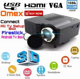 LOW PRICE BEST HOME CINEMA HD PROJECTOR USB HDMI VGA TV AV SD AUX INOU