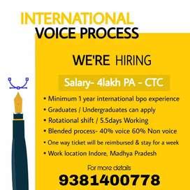 Urgent requirement for International voice