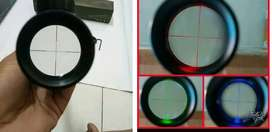 zoom tele teropong tembak 3-9x40 spike lampu RBG