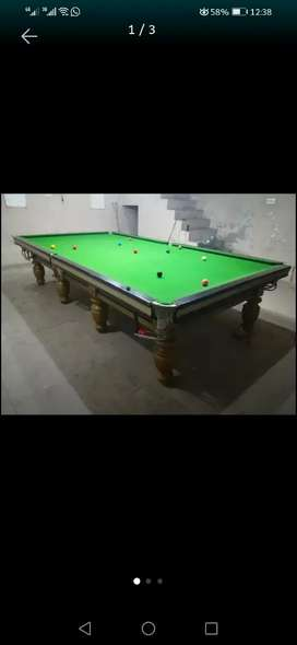 Snooker table 6×12