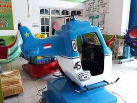 wahana mainan koin model Pesawat odong fiber DOV