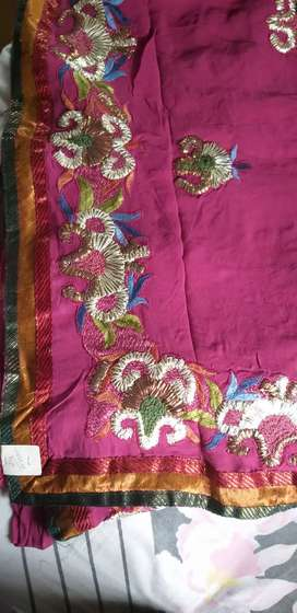 Boutique heavy work saree