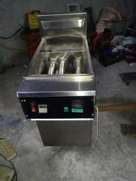 2 tube heavy duty fryer with blower system