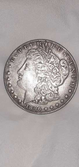 Uang koin antik ONE DOLLAR US OF AMERICA 1896